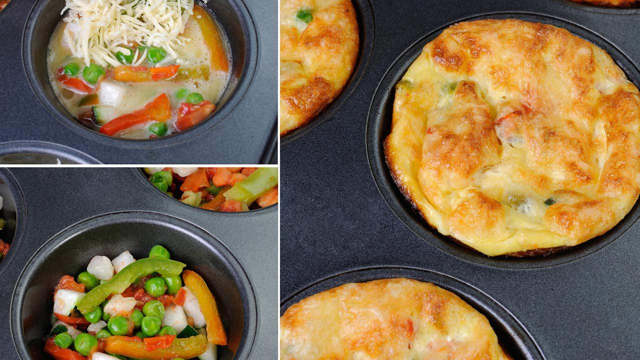 Omelette - Muffins - selbstgemachte Omelette - Muffins