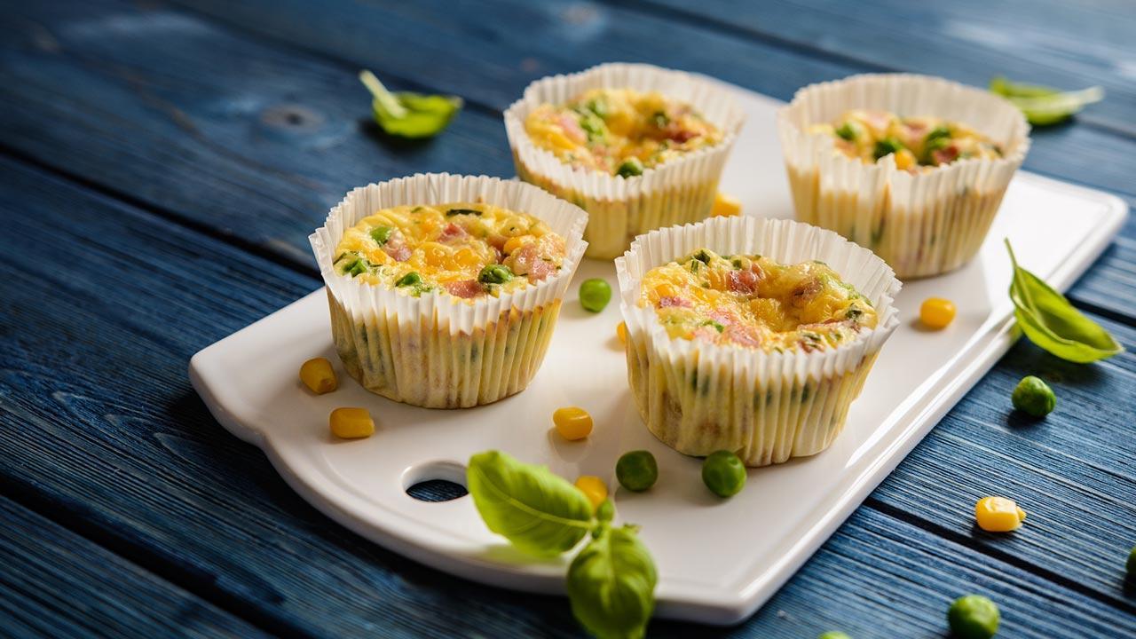 Omelette - Muffins - fertige Omelette - Muffins