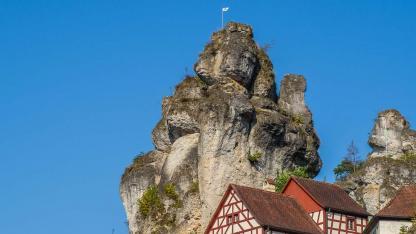 Klettern in der fränkischen Schweiz - Tüchersfeld