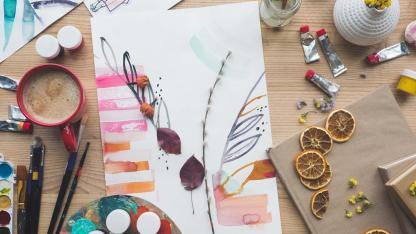 Das herbstliche Herbarium - Eine bunte Sammlung - mit Farbe gestalten