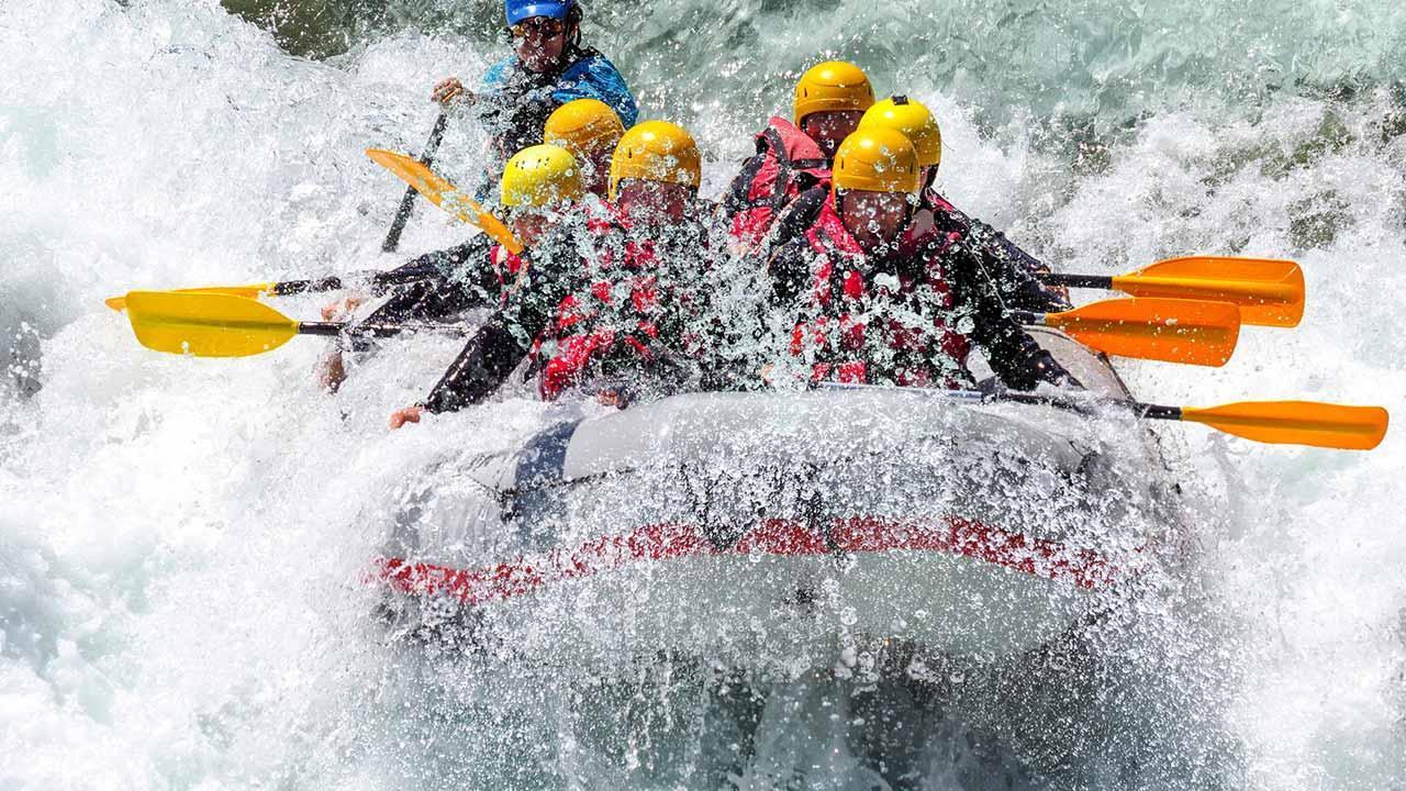 Die schönsten Rafting Spots - wilde Wasser