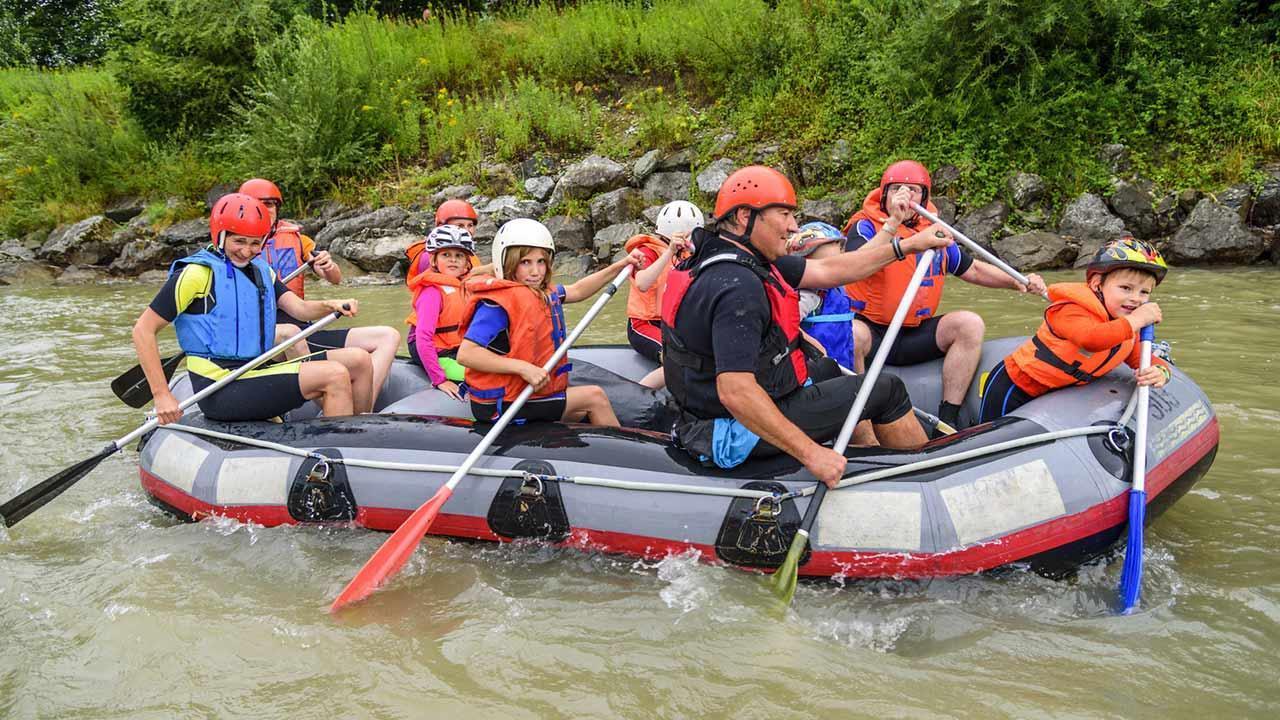 Die schönsten Rafting Spots - Familien Raftign