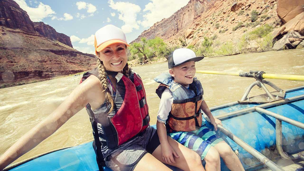 Die schönsten Rafting Spots - mit Kinder