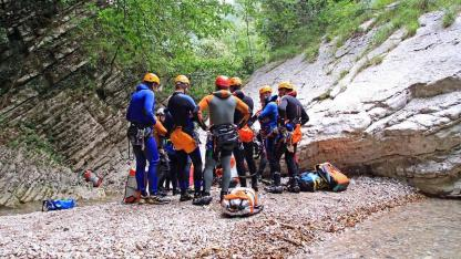 Canyoning am Gardasee - Gruppenbesprechung