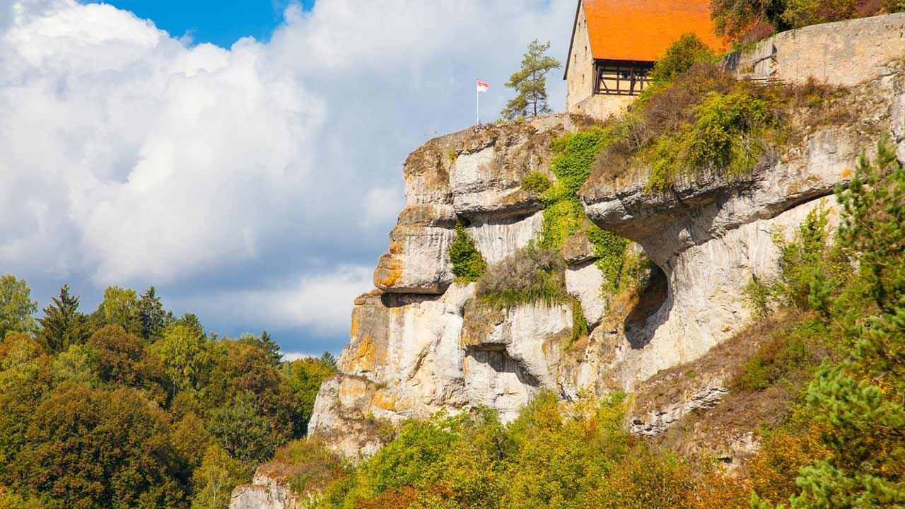 Klettern in der fränkischen Schweiz - Pottenstein in Oberfranken