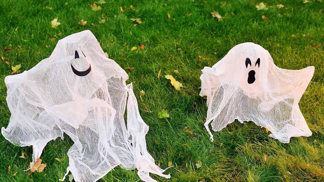 Bastelideen mit Kindern für Halloween - Geister