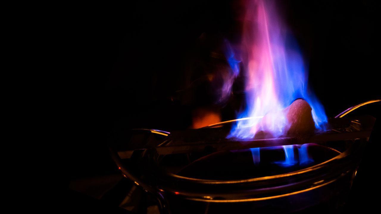 Der Klassiker - Feuerzangenbowle - blaue Flammen