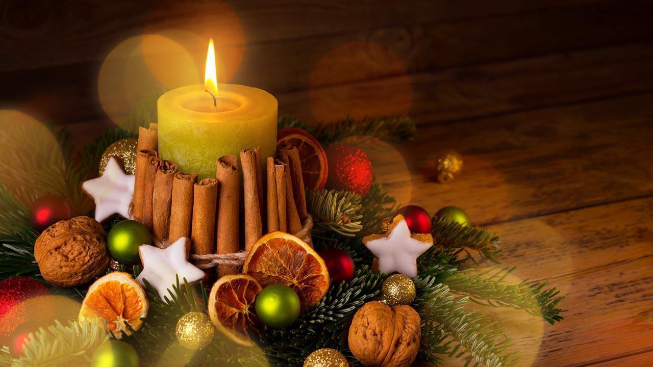 Adventskranz schön dekorieren - mit Orangen