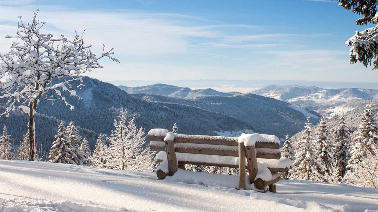 Weihnachtswanderungen im Schwarzwald - winterlicher Ausblick