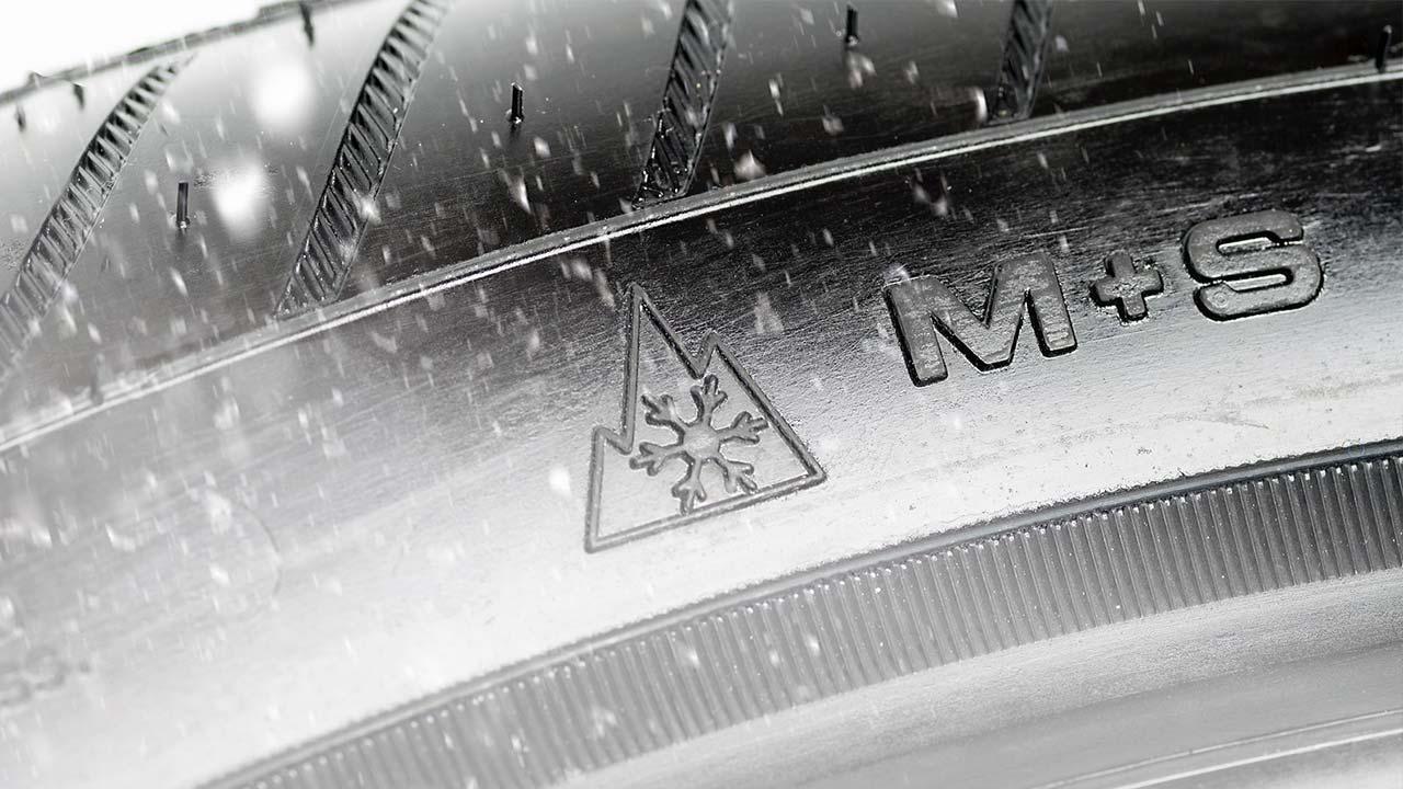 Winterreifen Profil selber nochmals checken - Matsch + Schnee Symbol