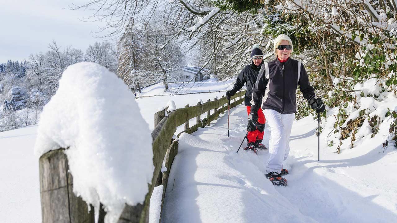 Skifahren und Langlaufen im Allgäu - Neuschnee Spaziergang