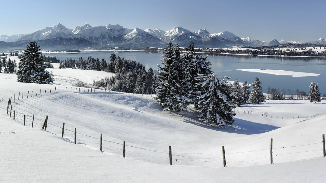 Skifahren und Langlaufen im Allgäu - Füssen am Forggensee