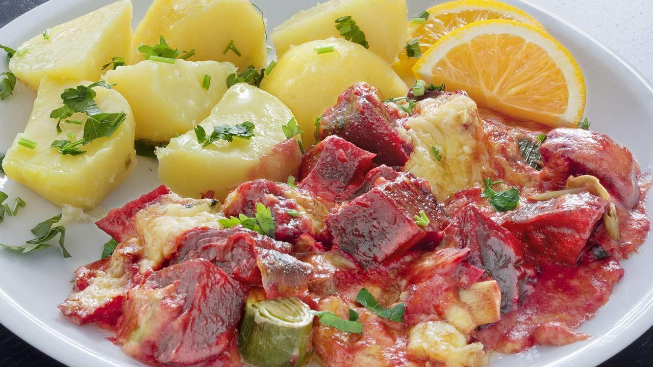 Winterrezepte ohne Fleisch - Roter Beete Auflauf