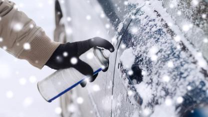 Eingefrorenes Autoschloss