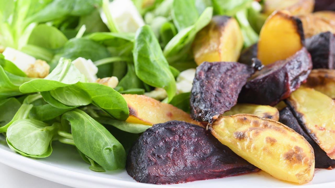 Leckere Rezepte mit Feldsalat - mit Bratkartoffel
