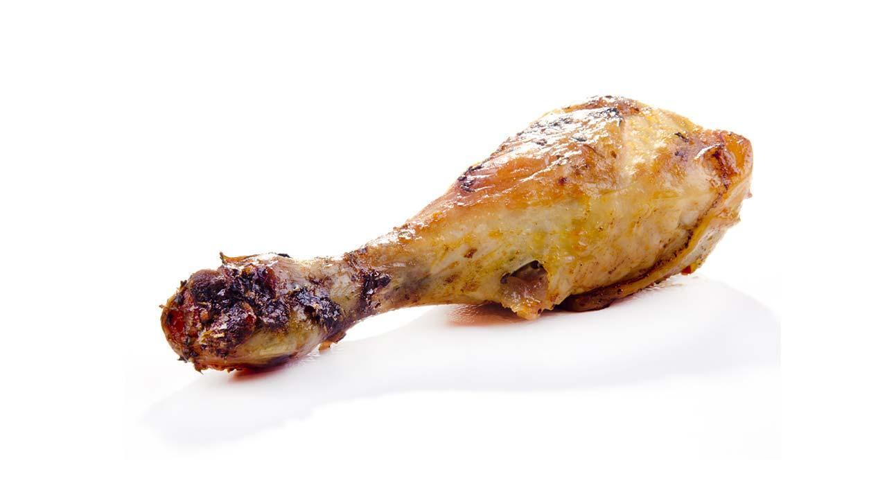 Fettarm frittieren mit der Heißluftfritteuse - Hühnerkeule