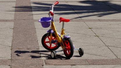 Stützräder oder Laufrad