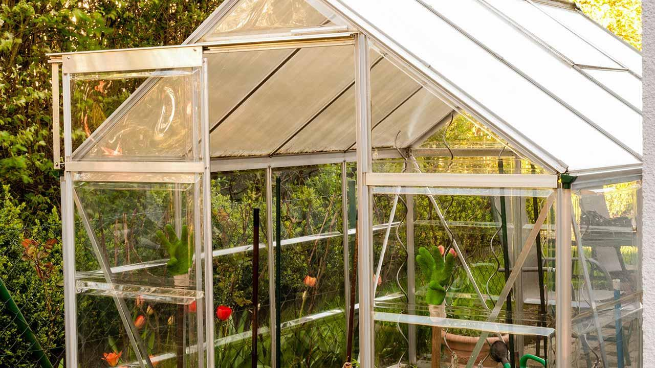 Tomatenhaus selbst bauen - aus Aluminium