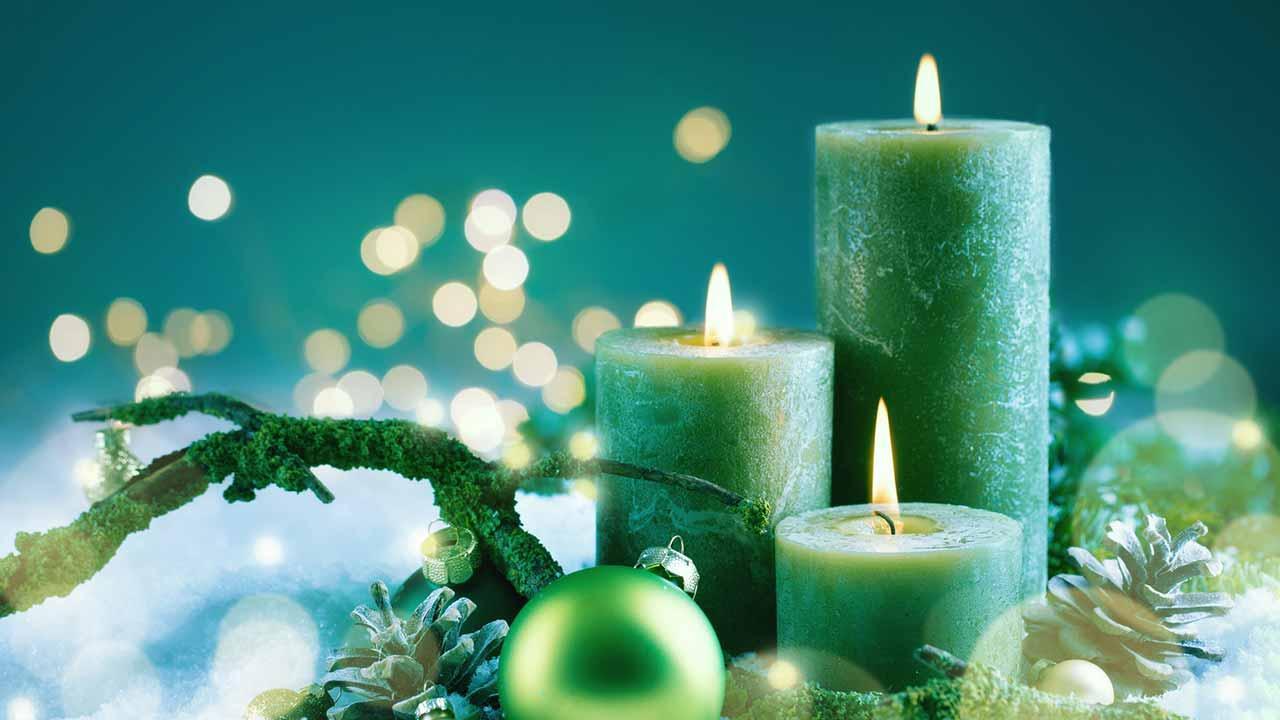 Weihnachtliche Deko für Zuhause - Kerzen