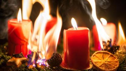 Brandschutz Vorsichtsmaßnahmen für Weihnachten und Silvester