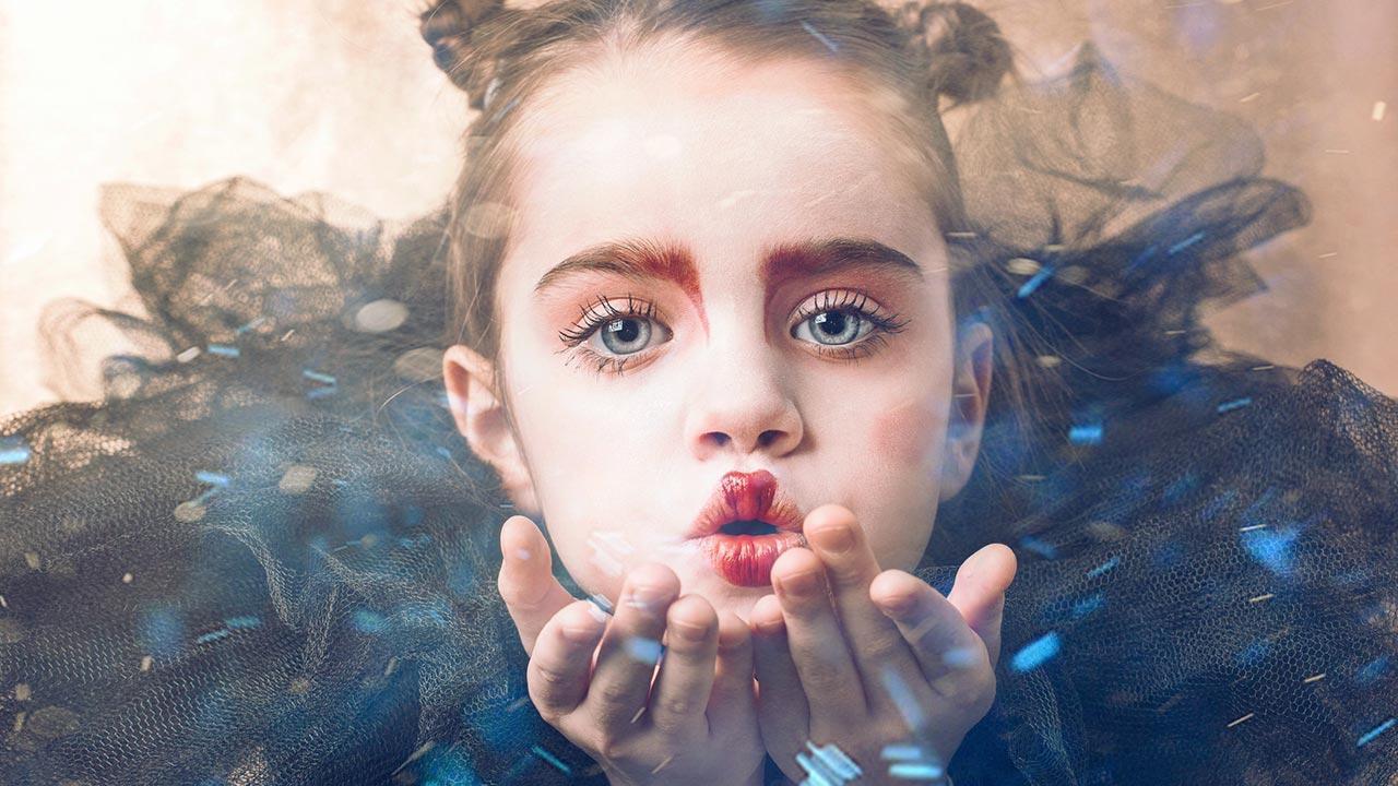 Die 5 schönsten Kinder Faschingskostüme - kleines Mädchen geschminkt