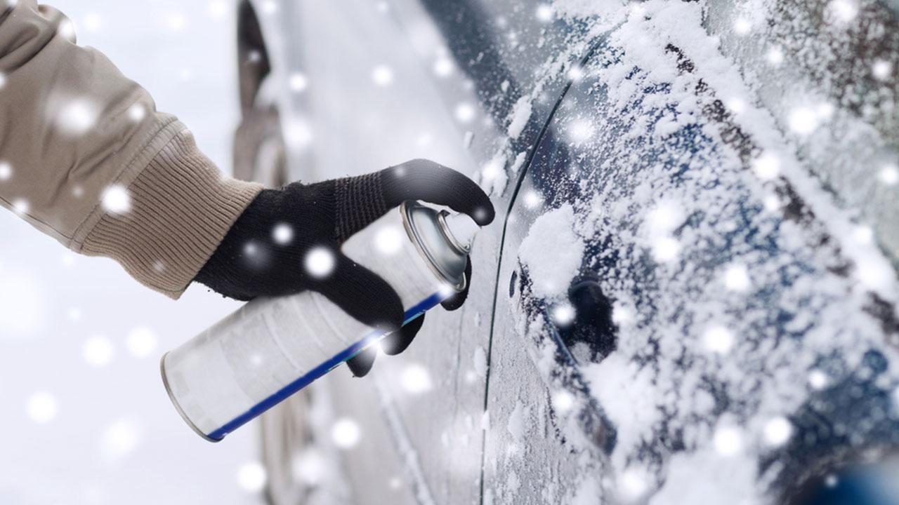 Autoschloss eingefroren - Was tun - Enteisungsspray