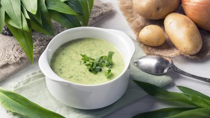 Bärlauch lecker umgesetzt - Suppe