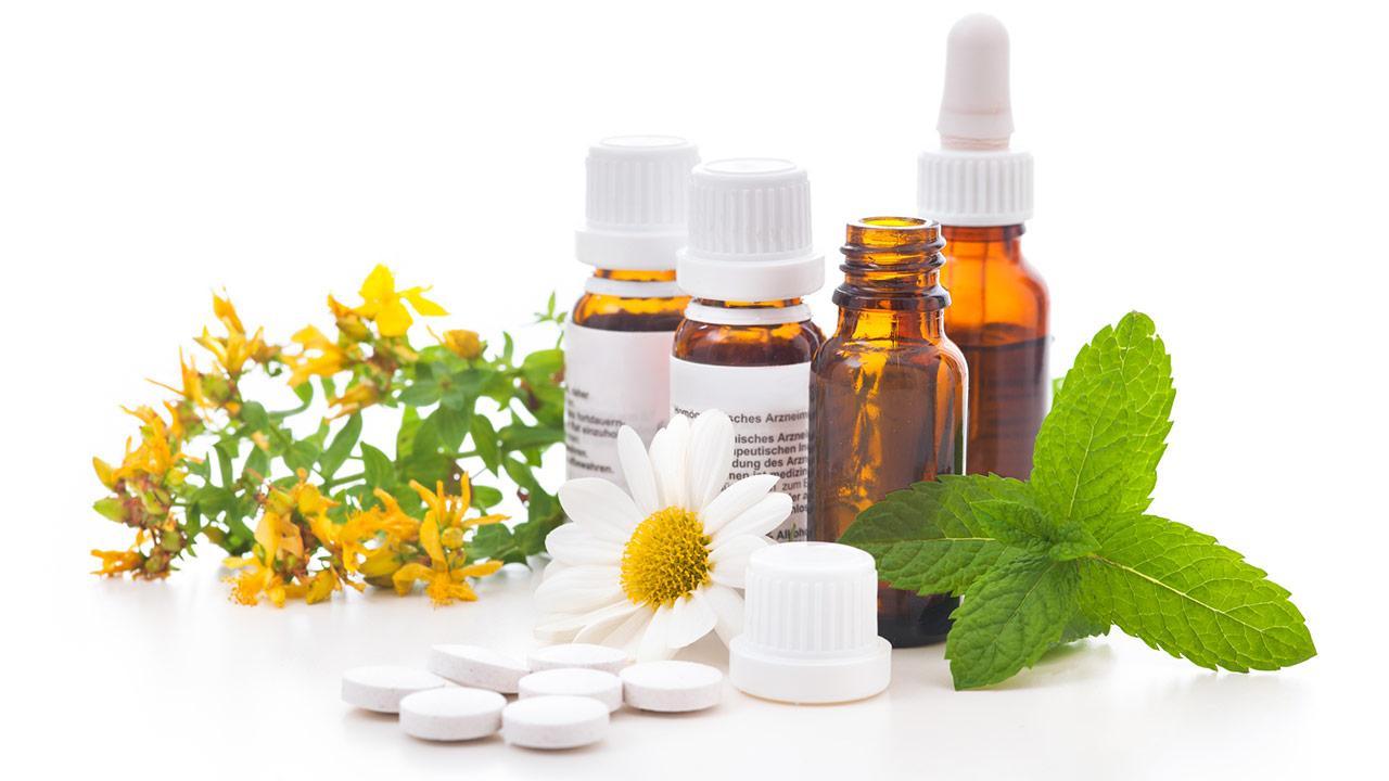 Homöopahtie gegen Allergien - Arzneiflaschen