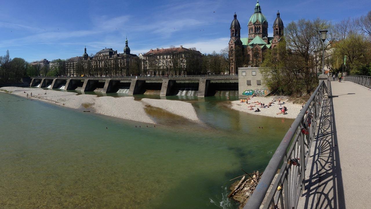 Mit dem Rad die Stadt erkunden: München / die Isar