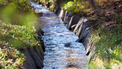 Fließende Gewässer im eigenen Garten