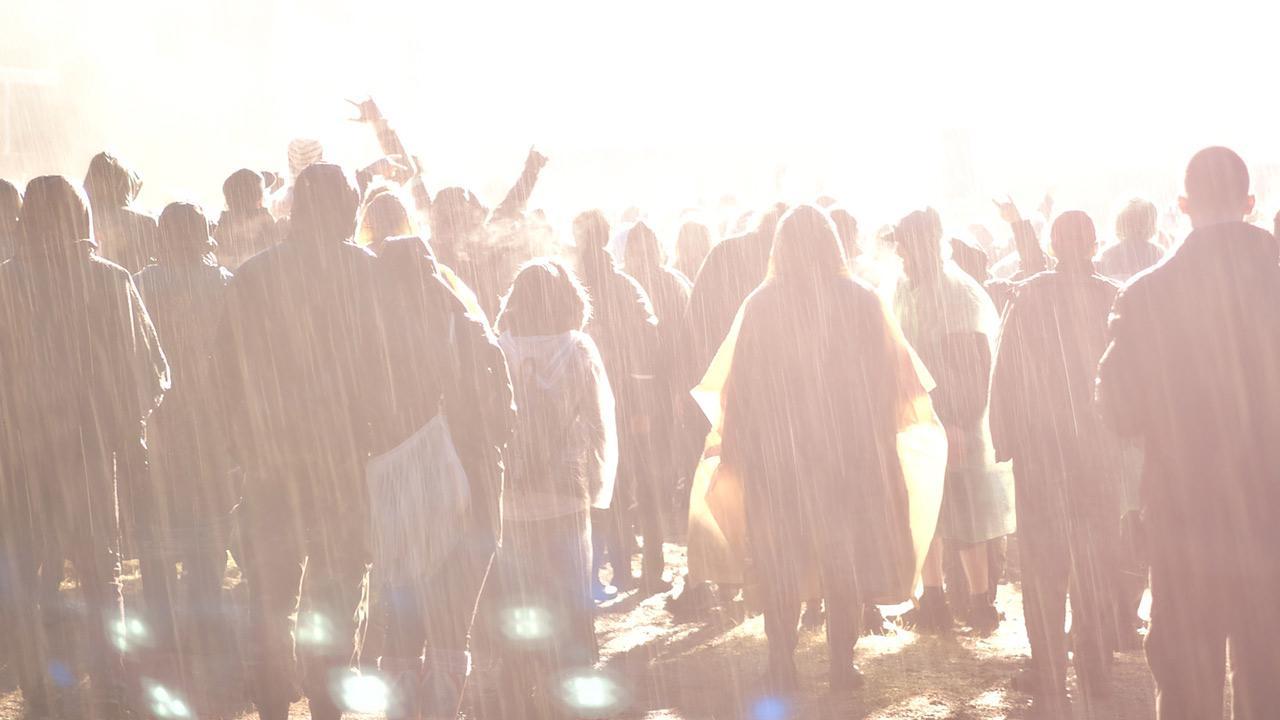 Rock im Park / Menschen im Regenponcho