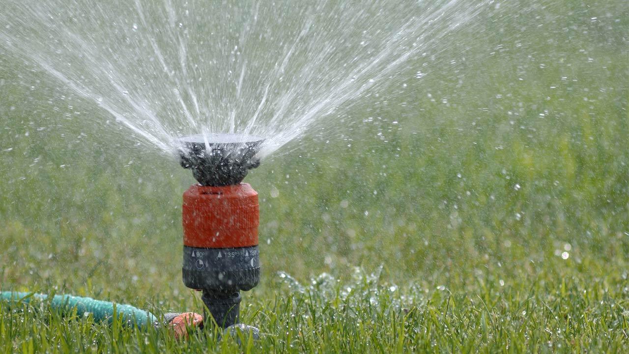 Der beste Rasensprenger für meinen Garten / ein Kreisregner