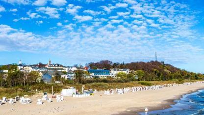 Den Sommer kühl verbringen an der Ostsee