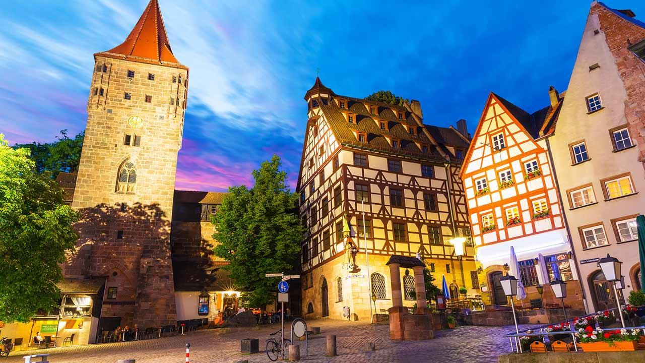 Mit dem Rad die Stadt erkunden: Nürnberg / die Altstadt von Nürnberg