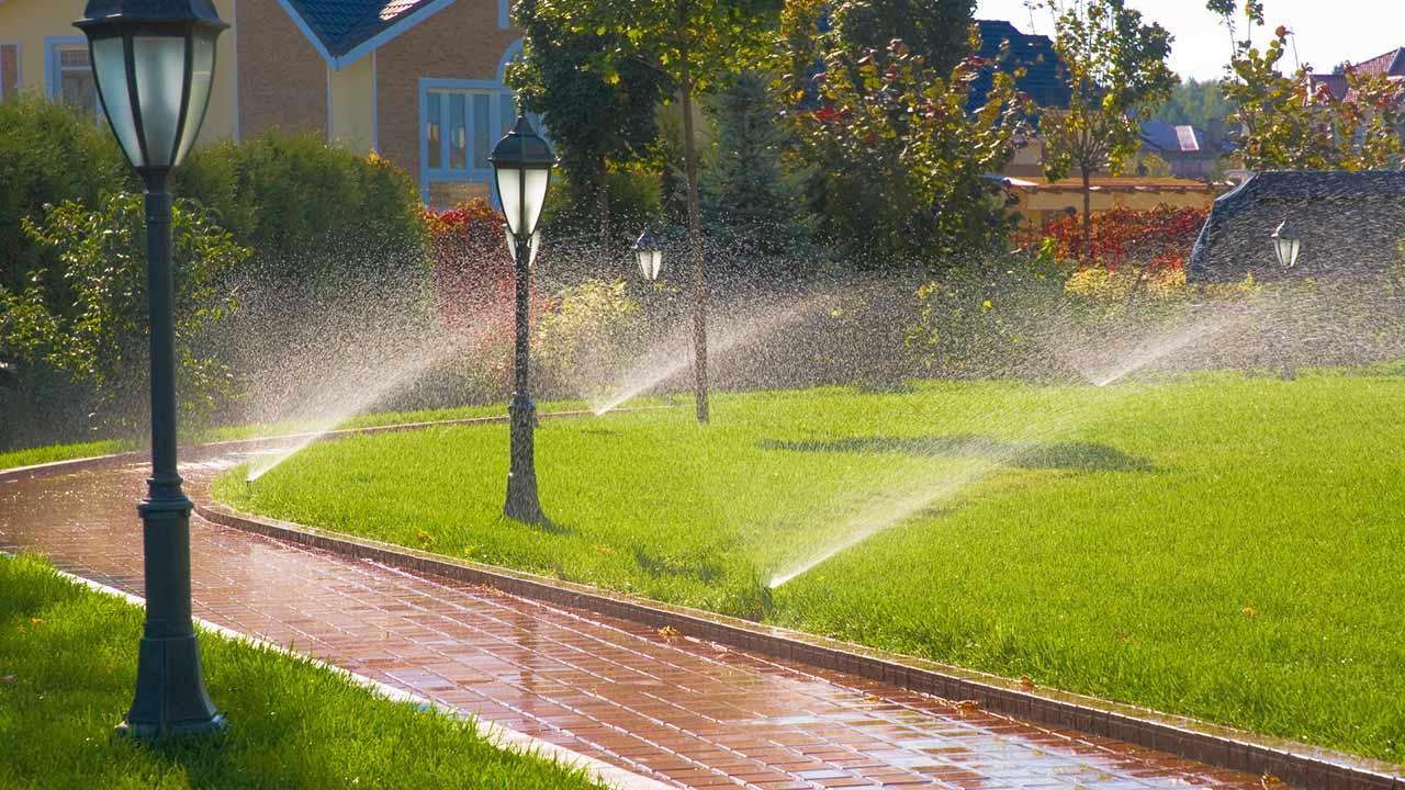 Garten bewässern im Spätsommer / Bewässerungsanlage