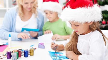 Basteln mit Kindern für Weihnachten