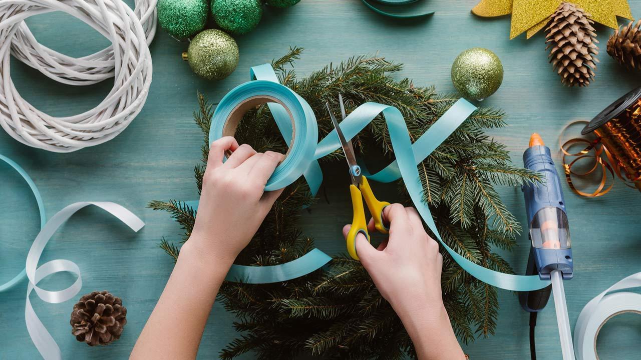 Die schönste Weihnachtsdeko / selbsgtgemachter Adventskranz