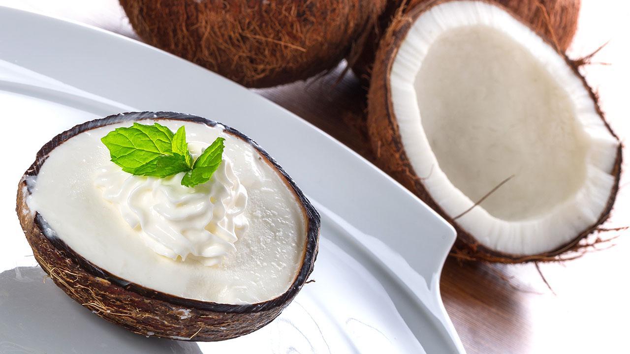 Veganer Valentinstag - Kokoscreme
