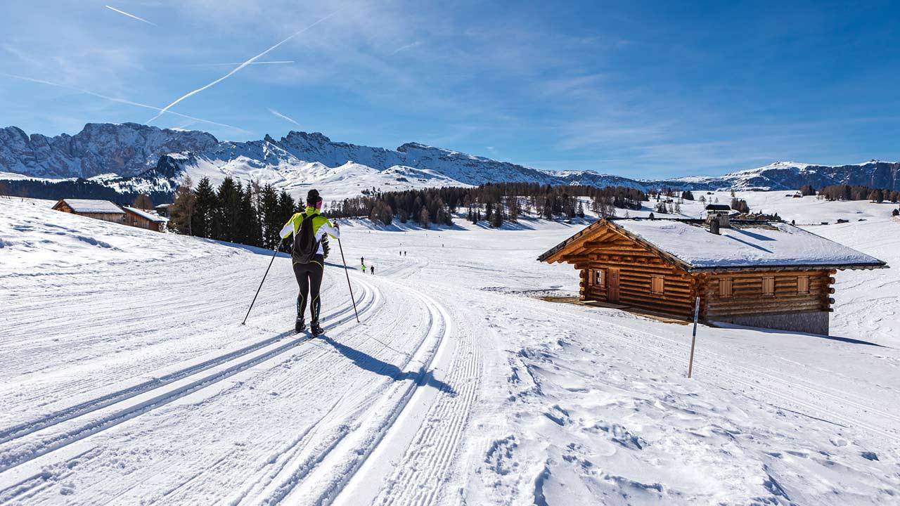 Langlaufen in Tirol - Loipe in Gröden