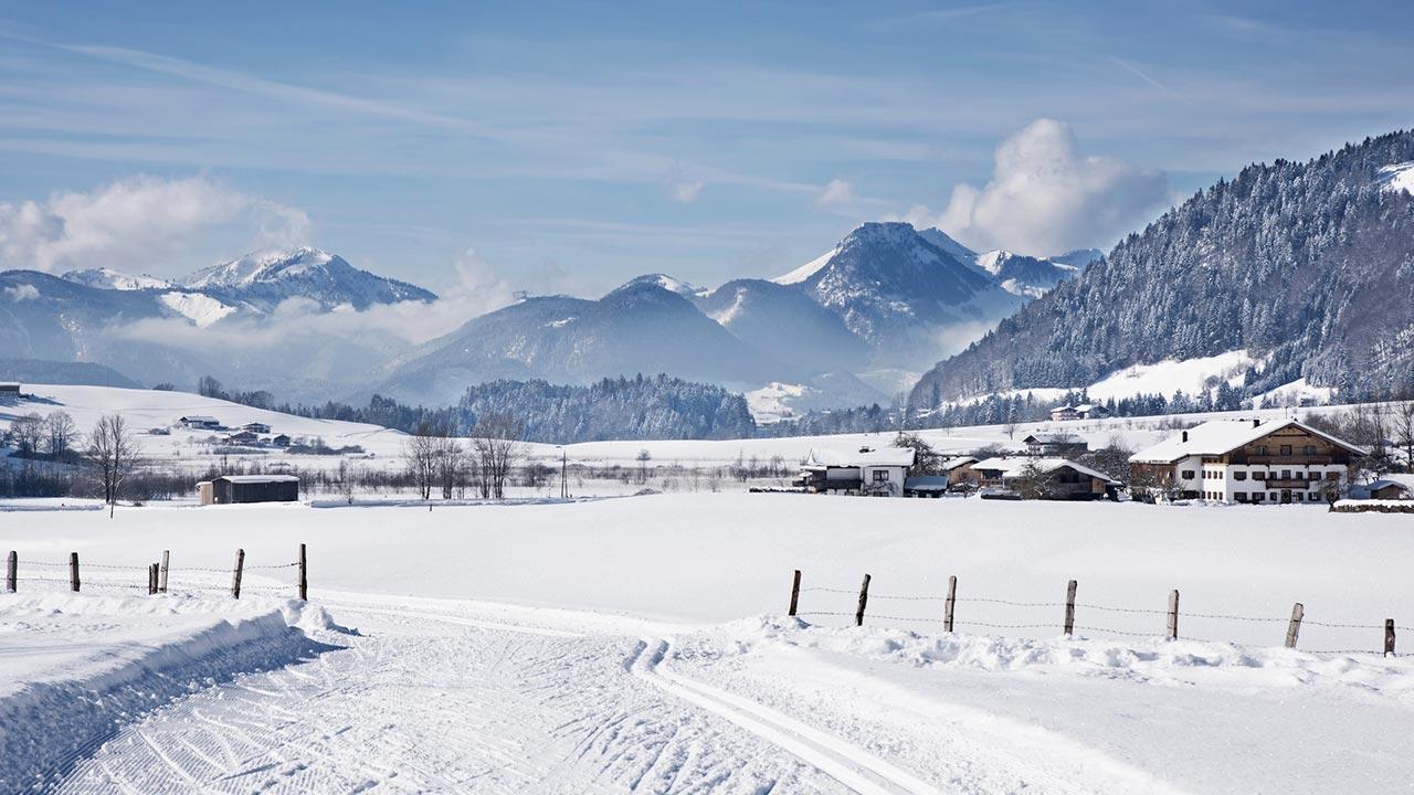 Langlaufen in Tirol - Winterlandschaft