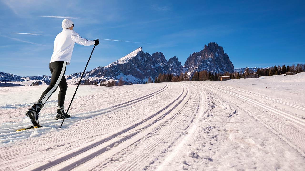 Langlaufen in Tirol - Winterloipe in Gröden