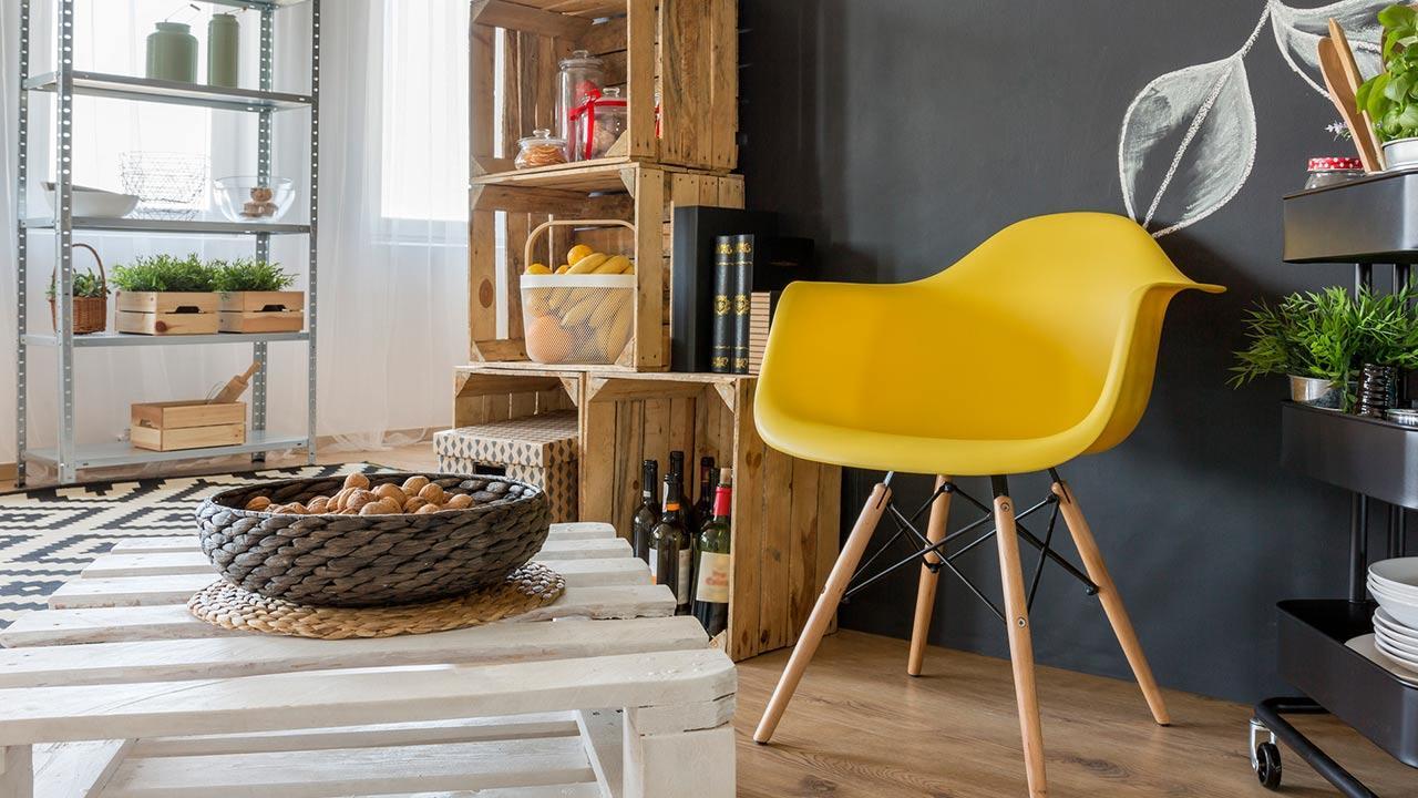 Palettenmöbel selbst gemacht - Palettenmöbel im Wohnzimmer